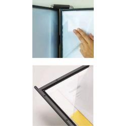 Buzunare prezentare pentru display, A4, (10 buc/set) PROBECO QuickLoad - negru