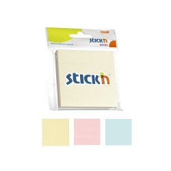"Notes autoadeziv 76 x 76 mm, 3 x 50 file/set, Stick""n - 3 culori pastel"