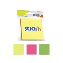 """Notes autoadeziv 76 x 76 mm, 3 x 50 file/set, Stick""""n - 3 culori fosforescente"""