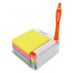 "Notes autoadeziv cu suport, 76 x 76 mm - 400 file/set, 76 x 14 mm - 380 file/set, Stick""n - culori a"