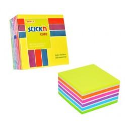 "Cub notes autoadeziv 76 x 76 mm, 400 file, Stick""n - neon/pastel asortate"
