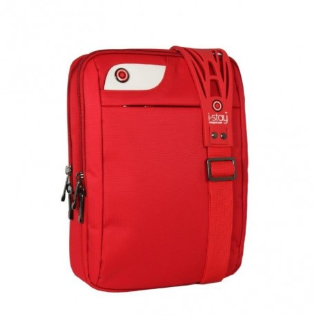 """Geanta laptop/I-pad 10.1"""", polyester, I-stay Solo - rosu"""