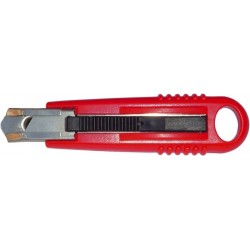 Cutter cu lama retractabila automat, TURIKAN SX-12-1 (rezerva 75 x 15mm)
