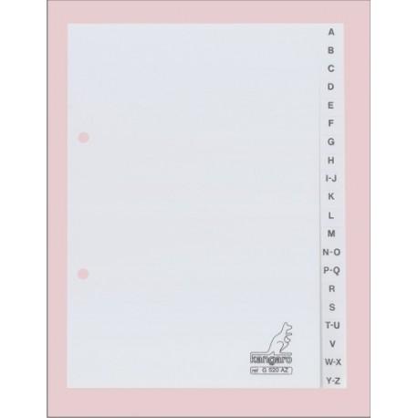 Index plastic alfabetic A5 - landscape, A-Z, KANGARO