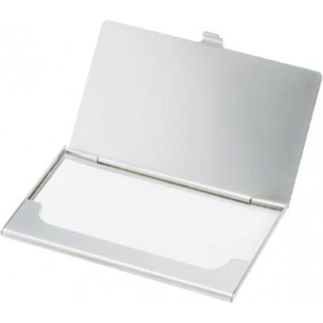 Port carti vizita metalic din inox mat