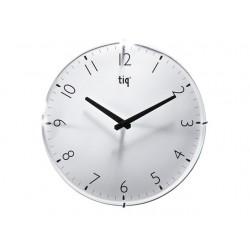 Ceas rotund de perete, D-300mm, cifre arabe, TIQ - dial alb