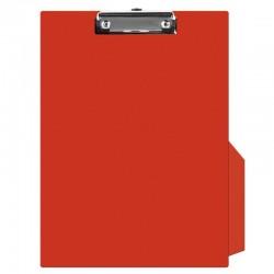 Clipboard simplu A4, plastifiat PVC, Q-Connect - rosu