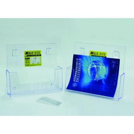 Display plastic pentru brosuri, de birou/perete, 1 x A4-landscape, KEJEA - transparent