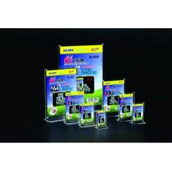 Display plastic cu magneti, pentru pliante, forma T, A4-portrait (210 x 297mm), KEJEA - transparent