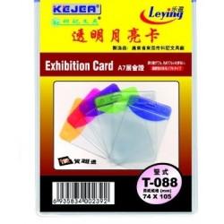 Buzunar PVC, pentru ID carduri, 74 x 105mm, vertical, 10 buc/set, KEJEA - margine transp. color