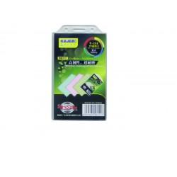 Suport PP, pentru carduri, 55 x 90mm, vertical cu sistem de agatare, 10 buc/set, KEJEA - transp.