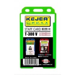 Suport PP-PVC rigid, pentru ID carduri, 54 x 85mm, vertical, 5 buc/set, KEJEA - transparent
