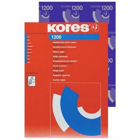 Indigo albastru pentru scris de mana A4 100coli/top , Kores