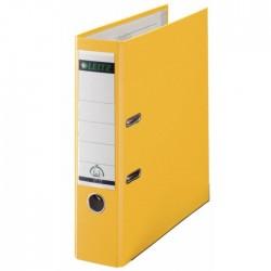 Biblioraft A4, plastifiat PP/paper, margine metalica 80 mm, LEITZ 180 - galben