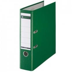 Biblioraft A4, plastifiat PP/paper, margine metalica 80 mm, LEITZ 180 - verde