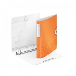 Caiet mecanic LEITZ Active Wow SoftClick, 4DR, 30mm - portocaliu metalizat