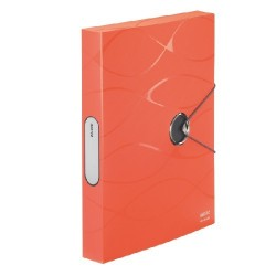 Mapa plastic cu elastic, 40mm latime LEITZ Vivanto Jumbo - orange