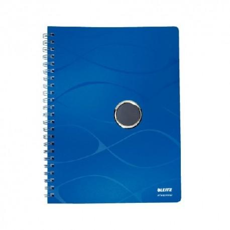 Caiet cu spirala, coperti PP, LEITZ Vivanto - matematica - albastru
