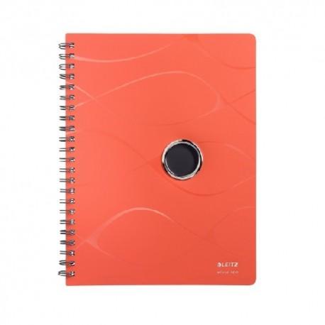 Caiet cu spirala, coperti PP, LEITZ Vivanto - matematica - orange