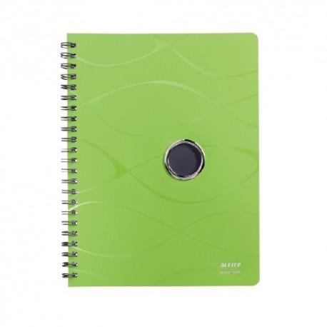 Caiet cu spirala, coperti PP, LEITZ Vivanto - matematica - verde