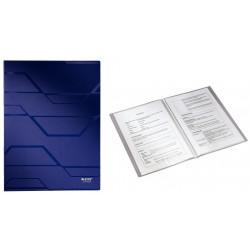 Dosar plastic de prezentare cu 20 de folii, LEITZ Prestige - albastru