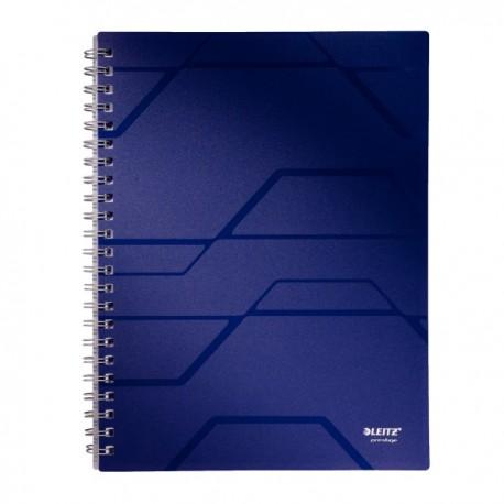 Caiet A4, cu spirala, 80 file, matematica, LEITZ Prestige - coperta albastra