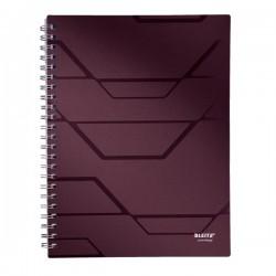 Caiet A4, cu spirala, 80 file, matematica, LEITZ Prestige - coperta mahon