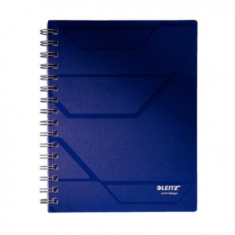 Caiet A5, cu spirala, 80 file, matematica, LEITZ Prestige - coperta albastra