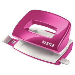 Perforator Leitz MINI 5060, 10 coli - roz metalizat
