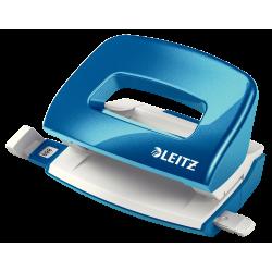 Perforator Leitz MINI 5060, 10 coli - albastru metalizat