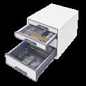 Cabinet cu sertare LEITZ Wow, 4 sertare - alb/gri