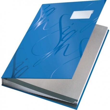 Mapa pentru semnaturi Leitz Design, albastru