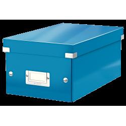 Cutie pentru 20/40 DVD-uri cu carcasa Jewel/Slim, LEITZ Click & Store, carton laminat - albastru
