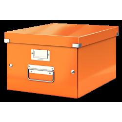 Cutie arhivare 281 x 200 x 369 mm, LEITZ Click & Store, carton laminat - portocaliu