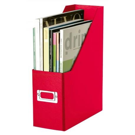 Suport vertical pentru cataloage, din carton laminat, LEITZ - rosu