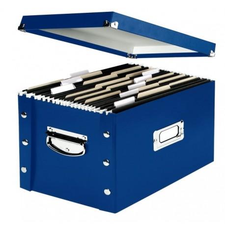 Cutie arhivare pentru 50 dosare suspendate, LEITZ Snap-N-Store - albastru
