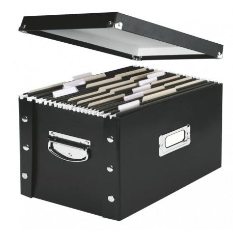 Cutie arhivare pentru 50 dosare suspendate, LEITZ Snap-N-Store - negru