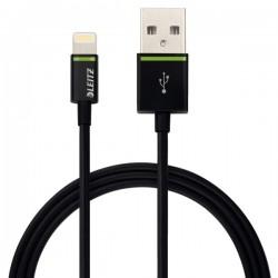 Cablu de date LEITZ Complete Lightning, port USB, 1 m - negru