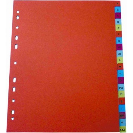 Index plastic color, numeric 1-12, LANDS