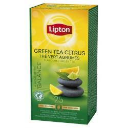 Ceai Lipton Verde cu aroma de citrice, 25 plicuri x 1.3g