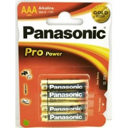 Baterii alkaline R3, AAA,1.5V,4 buc/set - Panasonic