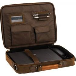"Geanta laptop 15,4"", (imitatie piele Koskin), D-LEX - maro"