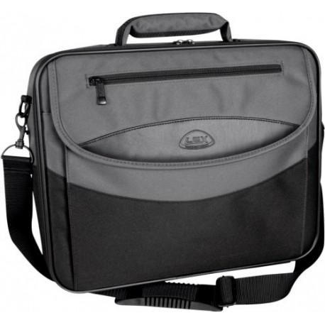 """Geanta laptop 15,4"""", (polyester 600D), D-LEX - negru/gri"""