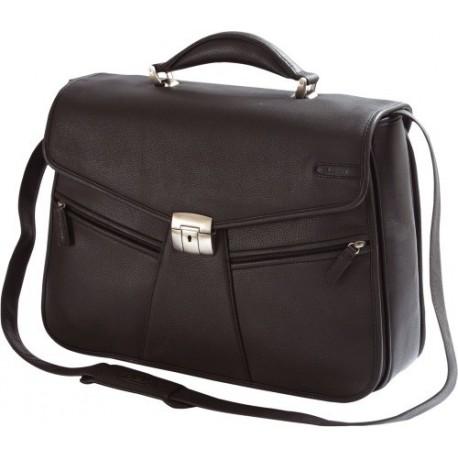 "Geanta laptop 15,4"", piele neagra, D-LEX"