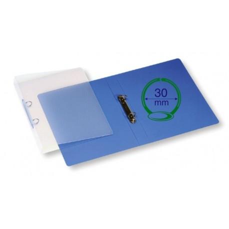Caiet mecanic cu coperti flexibile, 2 inele, D 30 mm, ELBA Hawai - transparent albastru