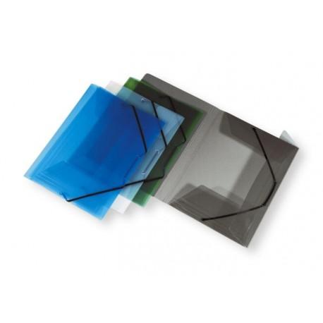 Mapa din plastic cu elastic, ELBA Hawai - transparent albastru