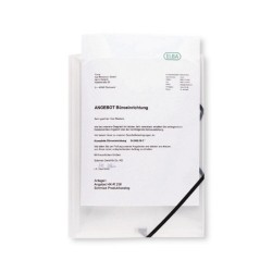 Mapa din plastic cu elastic, cu buzunar de prezentare, ELBA Image+ - transparent mat