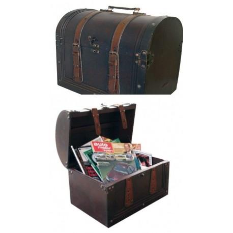 Valiza din lemn cu design retro - 43 x 32 x 32 cm