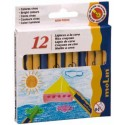 Creioane colorate cerate, 12 culori/set, MOLIN Color Plus