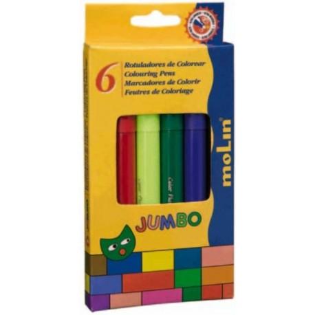 Carioca Jumbo, 6 culori/set, MOLIN Color Plus